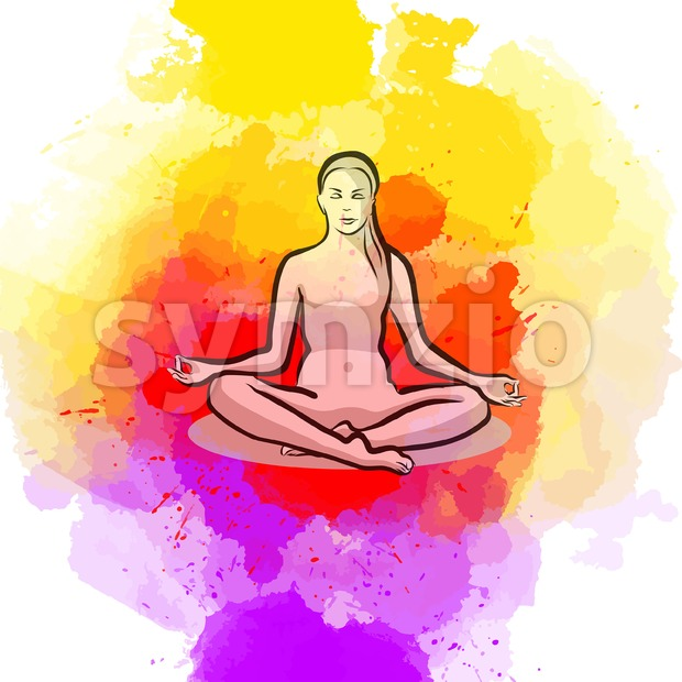 Lotus Yoga Pose Stock Vector