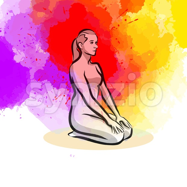 Simple Yoga Pose Stock Vector