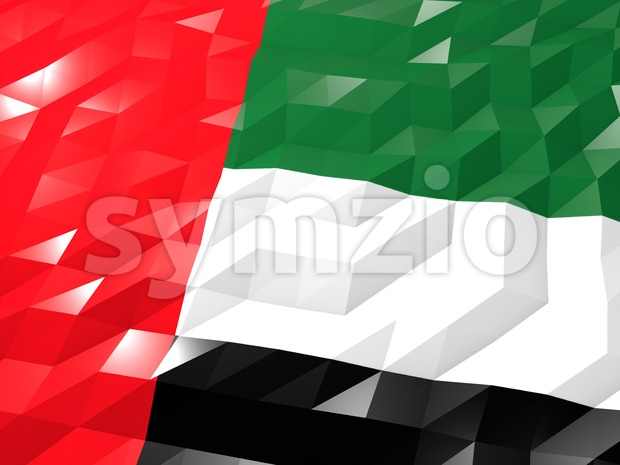 Flag of United Arab Emirates Stock Photo