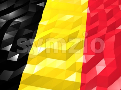 Flag of Belgium 3D Wallpaper Illustration Stock Photo