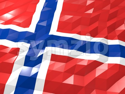 Flag of Bouvet Island 3D Wallpaper Illustration Stock Photo