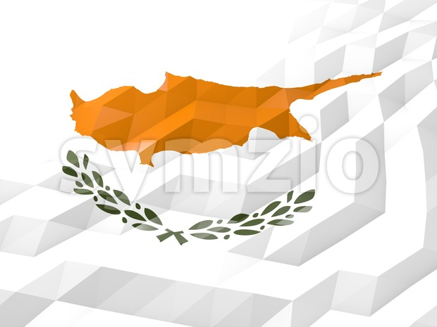 Flag of Cyprus 3D Wallpaper Illustration Stock Photo