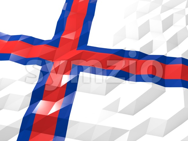 Flag of Faroe Islands 3D Wallpaper Illustration Stock Photo