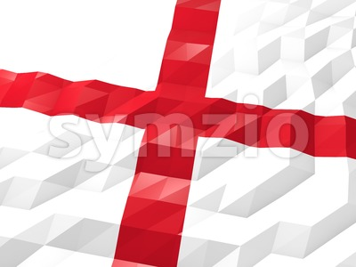 Flag of England 3D Wallpaper Illustration Stock Photo