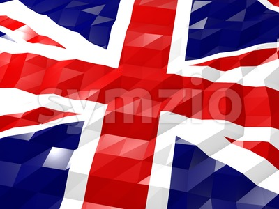 Flag of United Kingdom of Great Britain and Northern Ireland 3D Stock Photo