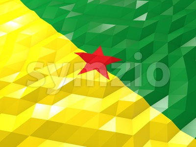 Flag of French Guiana 3D Wallpaper Illustration Stock Photo