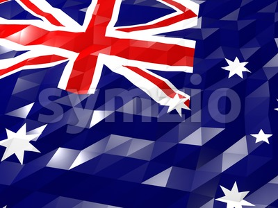 Flag of Heard Island and McDonald Islands 3D Wallpaper Illustrat Stock Photo