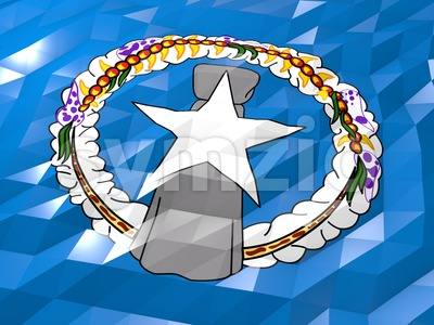 Flag of Northern Mariana Islands 3D Wallpaper Illustration Stock Photo