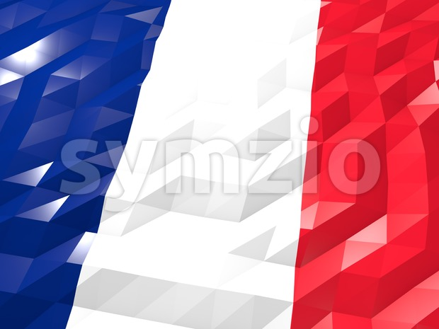 Flag of Martinique 3D Wallpaper Illustration Stock Photo