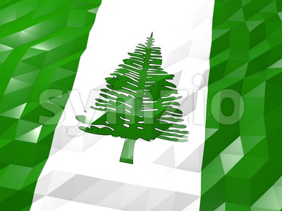 Flag of Norfolk Island 3D Wallpaper Illustration Stock Photo