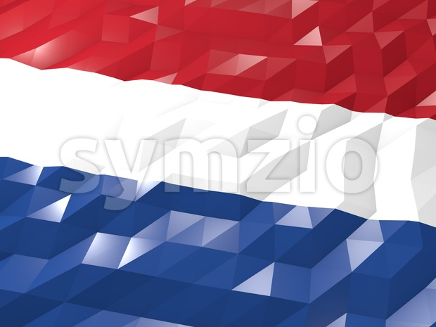 Flag of Netherlands 3D Wallpaper Illustration Stock Photo