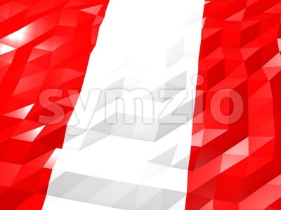Flag of Peru 3D Wallpaper Illustration Stock Photo