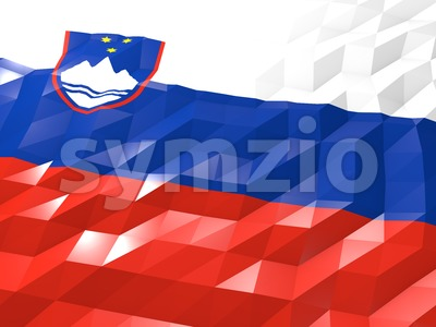 Flag of Slovenia 3D Wallpaper Illustration Stock Photo