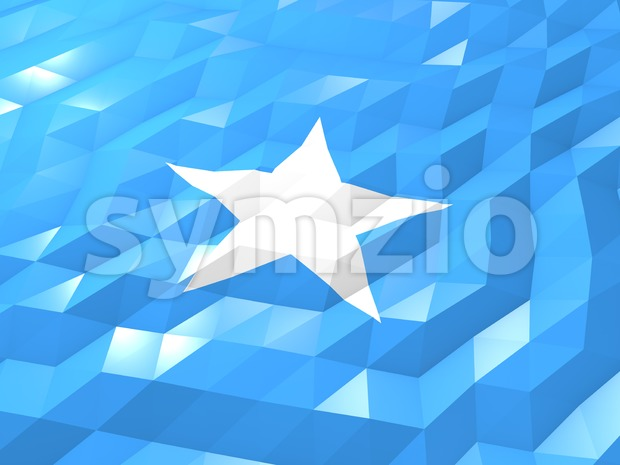 Flag of Somalia 3D Wallpaper Illustration Stock Photo