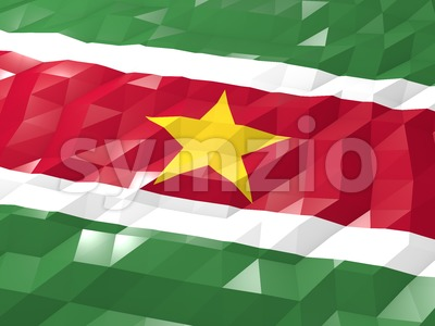 Flag of Suriname 3D Wallpaper Illustration Stock Photo