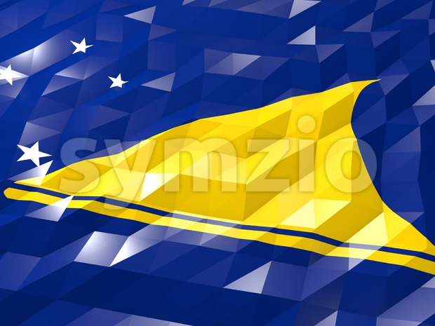 Flag of Tokelau 3D Wallpaper Illustration Stock Photo