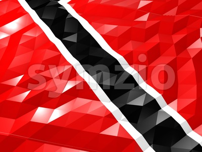 Flag of Trinidad and Tobago 3D Wallpaper Illustration Stock Photo
