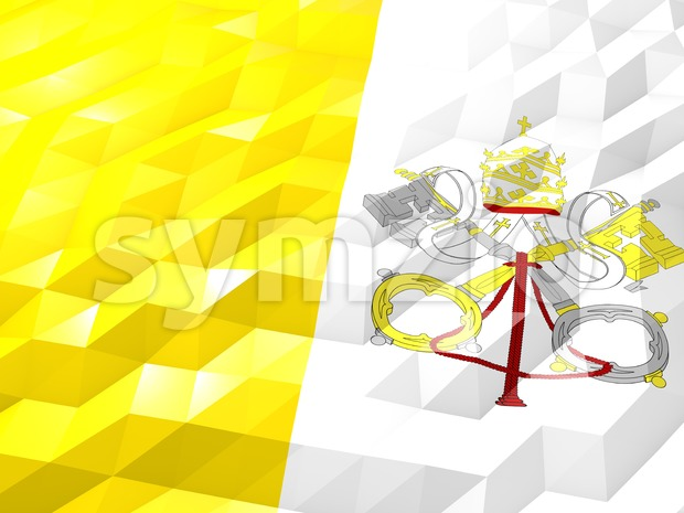 Flag of Holy See 3D Wallpaper Illustration Stock Photo