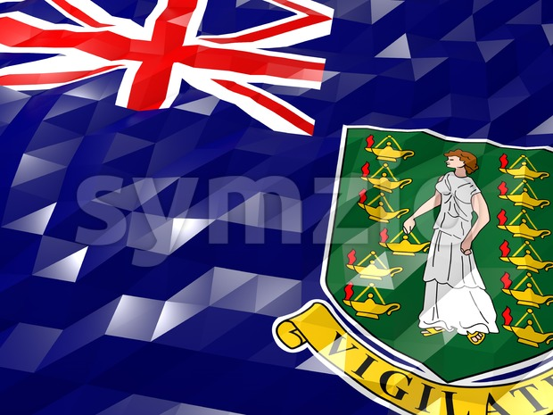 Flag of British Virgin Islands 3D Wallpaper Illustration Stock Photo