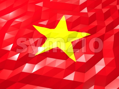 Flag of Vietnam 3D Wallpaper Illustration Stock Photo