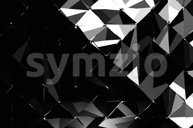 Hard Shaded Explosion Background Pattern, 3D Rendered Low Poly Object