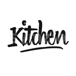 Kitchen handwritten lettering Stock Vector