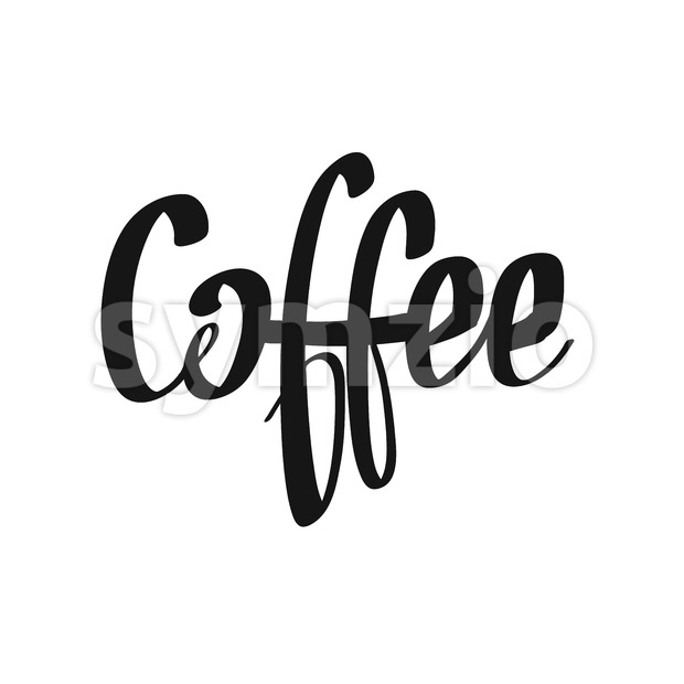 Coffee handwritten lettering Stock Vector