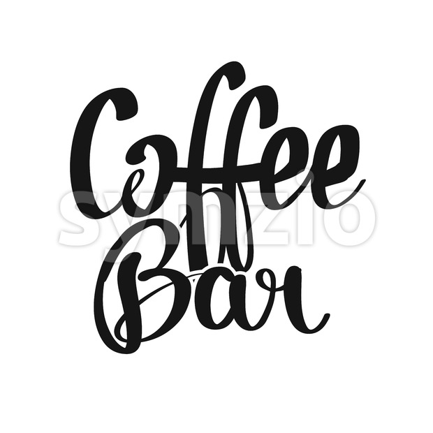 Coffee Bar handwritten lettering Stock Vector