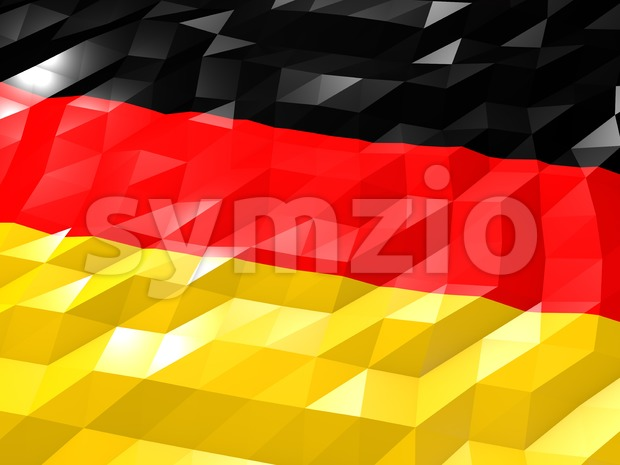 Flag of Germany 3D Wallpaper Illustration Stock Photo