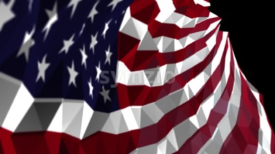 Abstract geometric Flag of United States of America, seamless looping Animation Stock Video