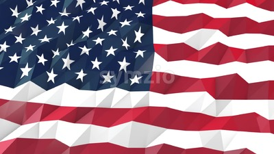 Flag of USA 3D Portrait View Animation Stock Video