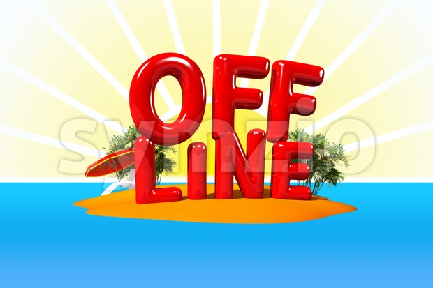 Offline on Island Stock Photo