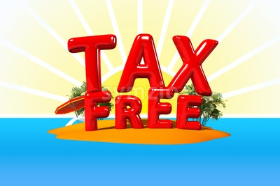 TAX Free on Island Stock Photo