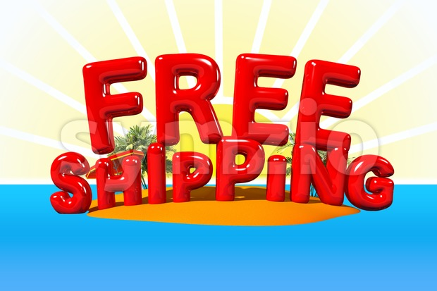 Free Shipping on Island Stock Photo