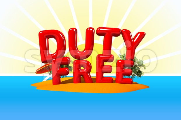 Duty Free on Island Stock Photo