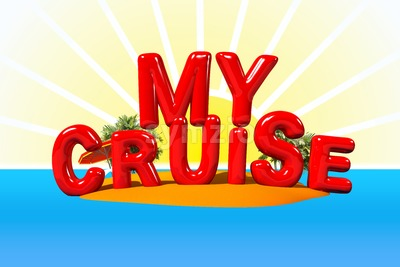 My Cruise on Island Stock Photo