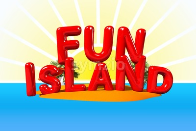 Fun Island Illustration Stock Photo