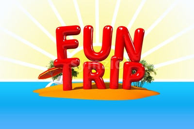 Fun Trip on Island Stock Photo