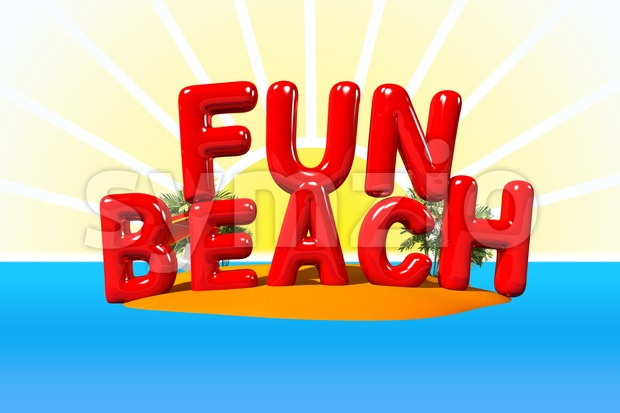 Fun Beach on Island Stock Photo