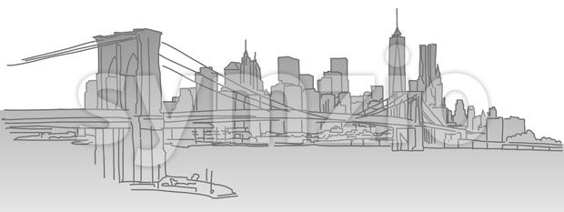 New York City Skyline Stock Vector