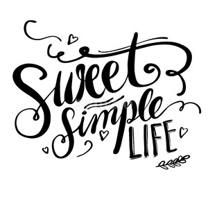 Sweet Simple Life Stock Vector