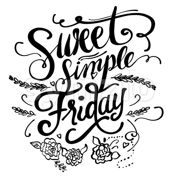 Sweet Simple Friday Stock Vector