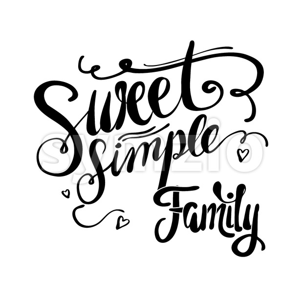 Sweet Simple Family Stock Vector