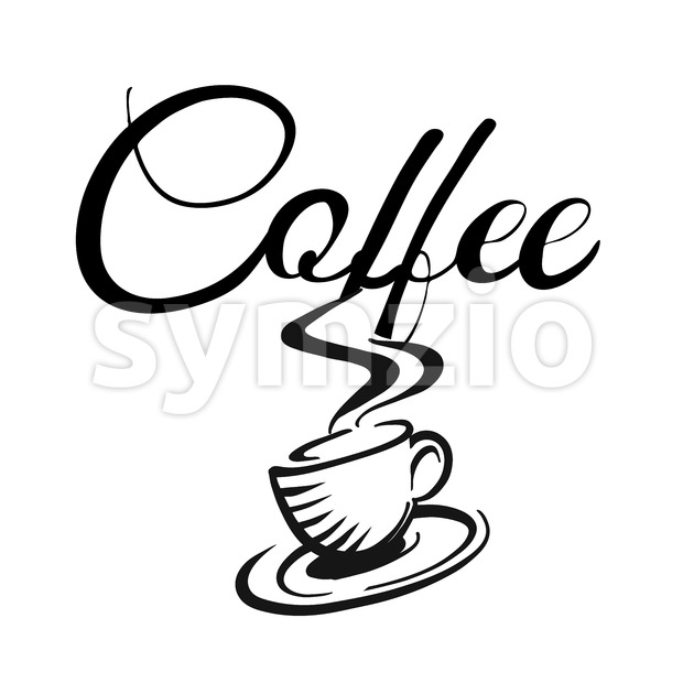 Coffee cup and coffe logo, Hand drawn Vector Artwork