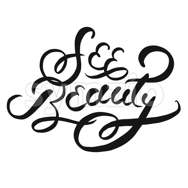 See beauty typographic Lettering Slogan Stock Vector