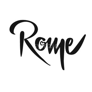 Rome Calligraphic Lettering Stock Vector