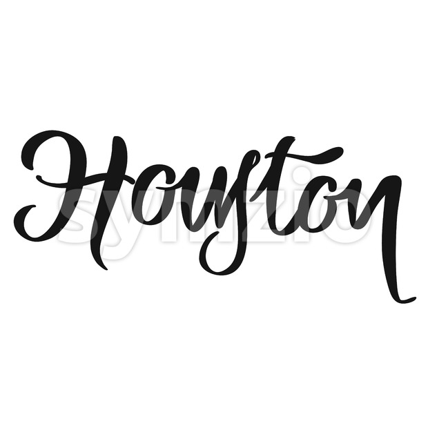 Houston calligraphic lettering Stock Vector