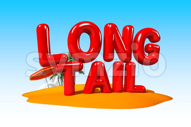 Longtail Buzzword on Island Stock Photo