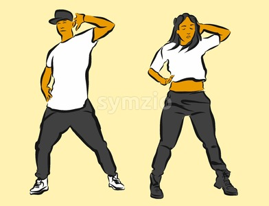 Hip Hop Choreography Stock Vector