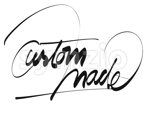 Custom Made Title - Hand Lettering Stock Vector